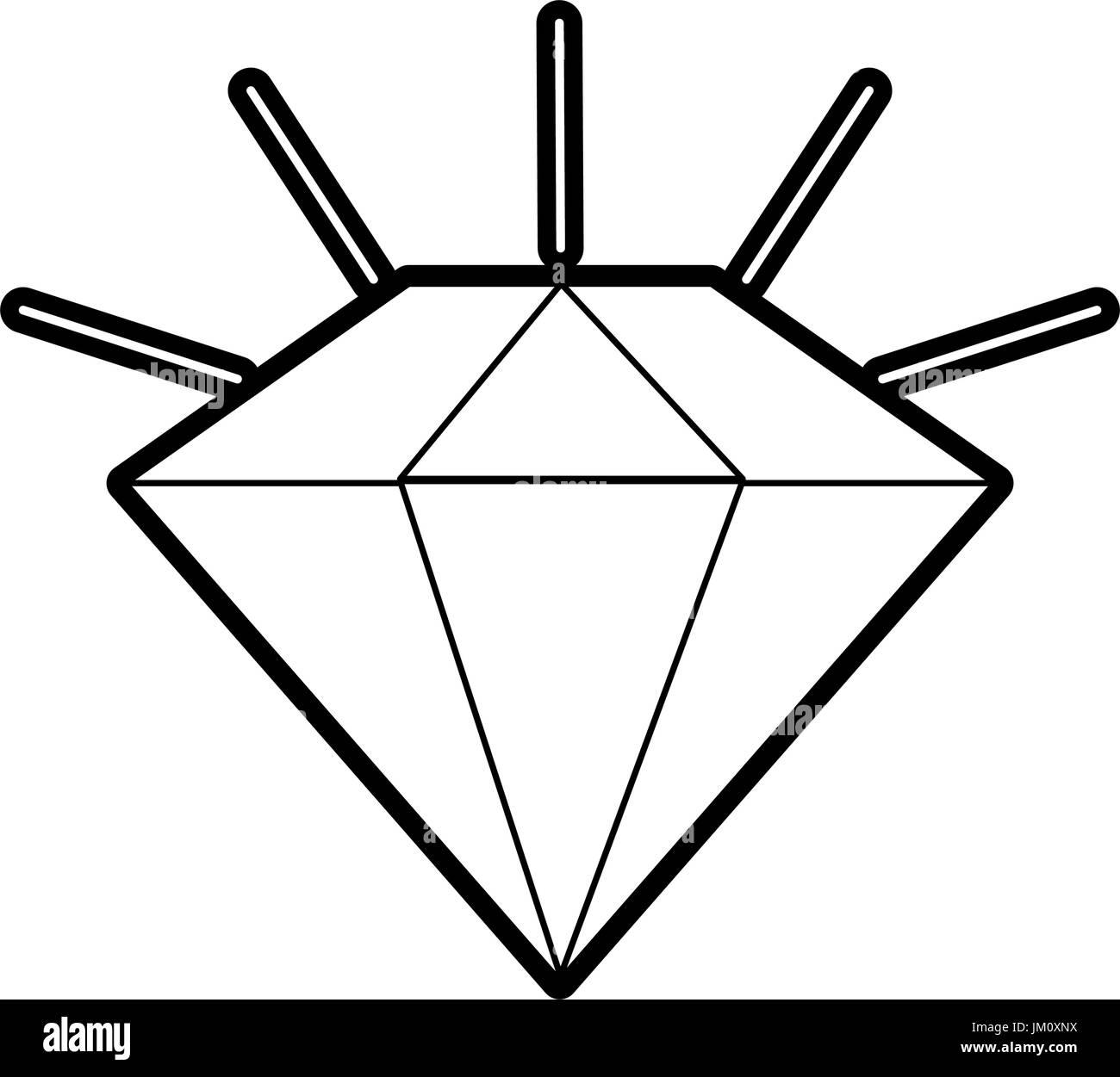 diamond stone cartoon - Stock Image