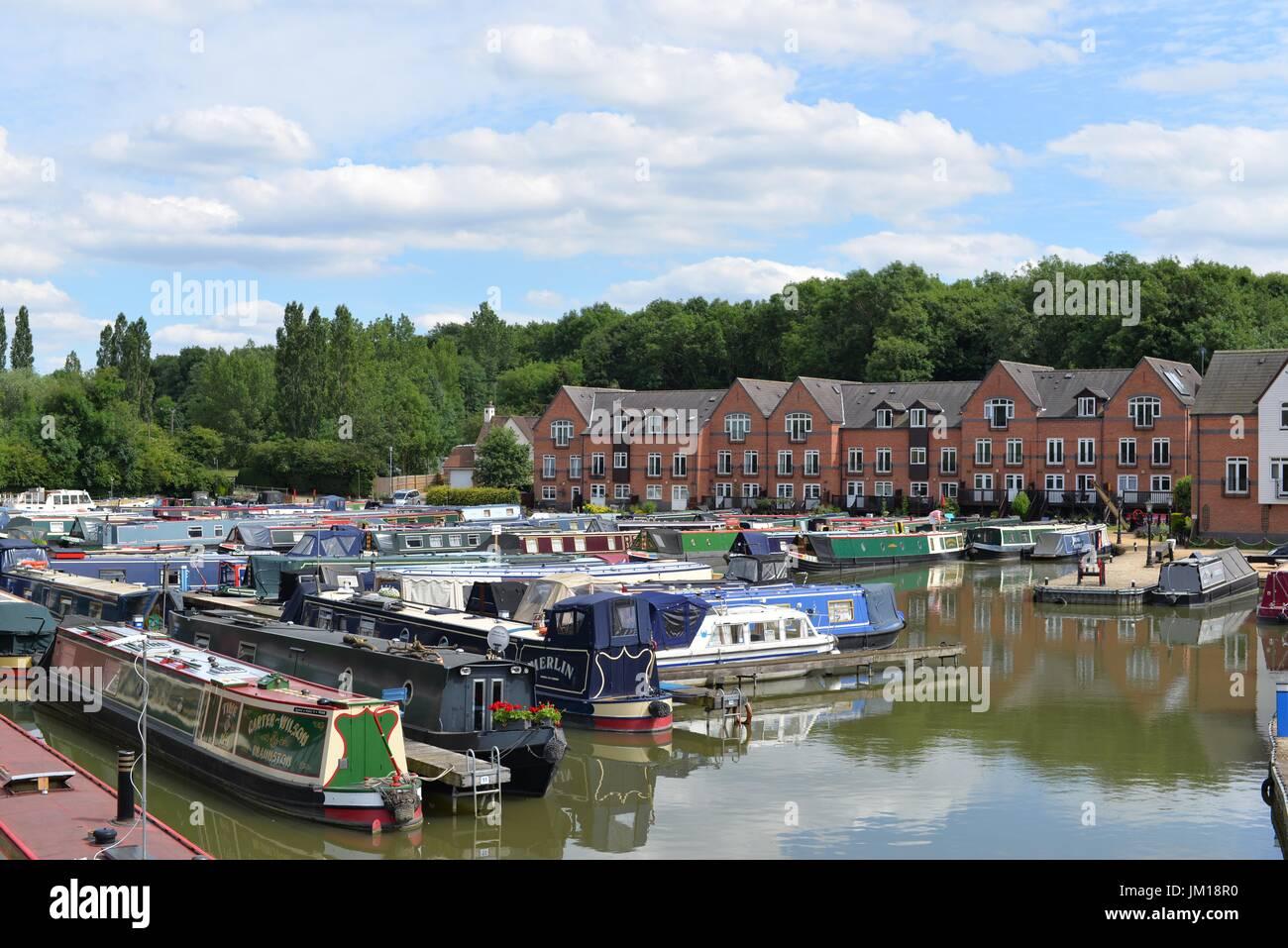 Braunston Marina, Daventry, Northamptonshire - Stock Image