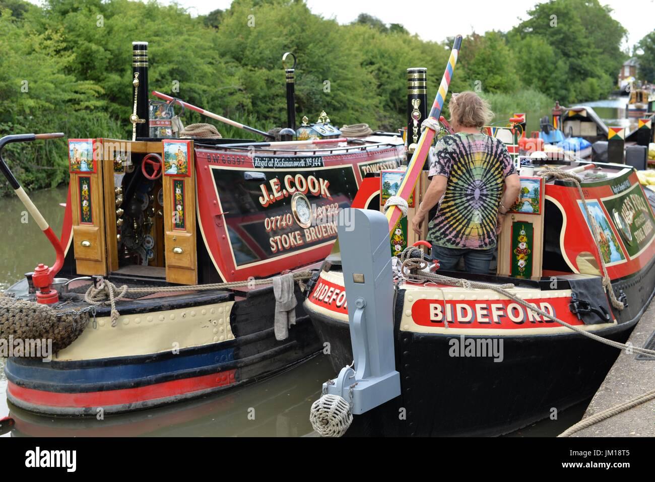 Braunston Historic Boat Show 2017 - Stock Image