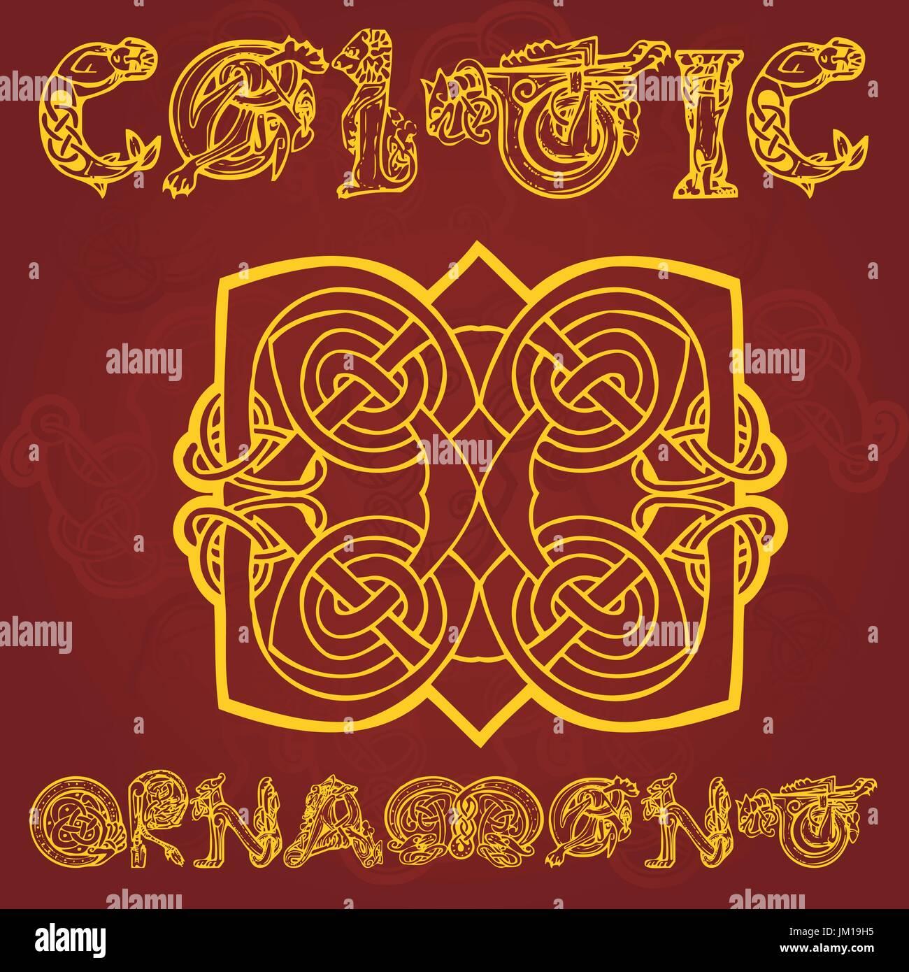 Celtic decorative  ornament - Stock Vector