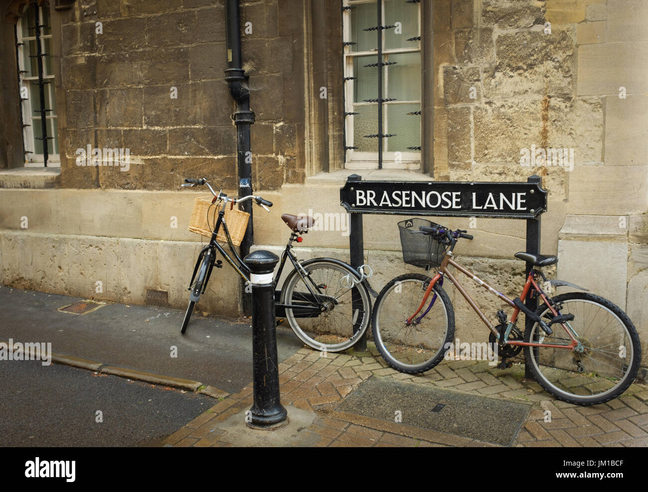 Brasenose Lane, Oxford - Stock Image