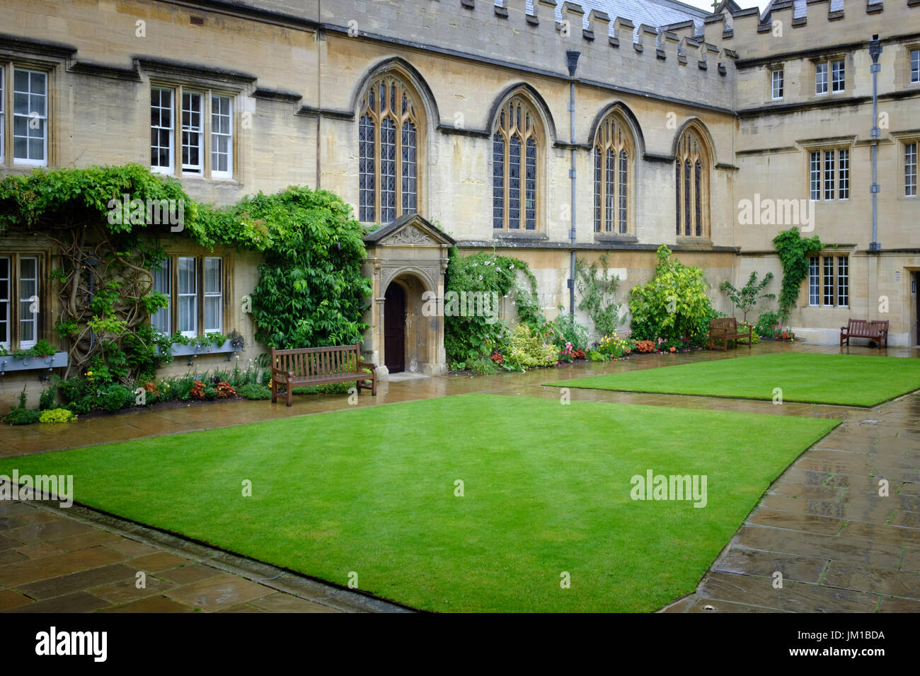 Jesus College, Oxford - Stock Image
