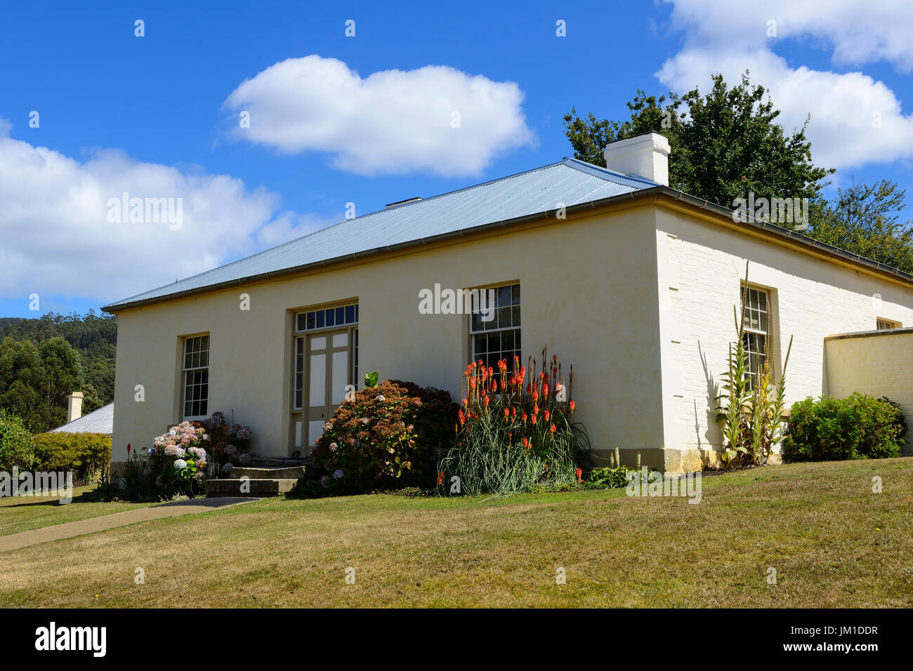 Accountant's House at Port Arthur historic site (former convict settlement) on the Tasman Peninsula in Tasmania, Australia - Stock Image