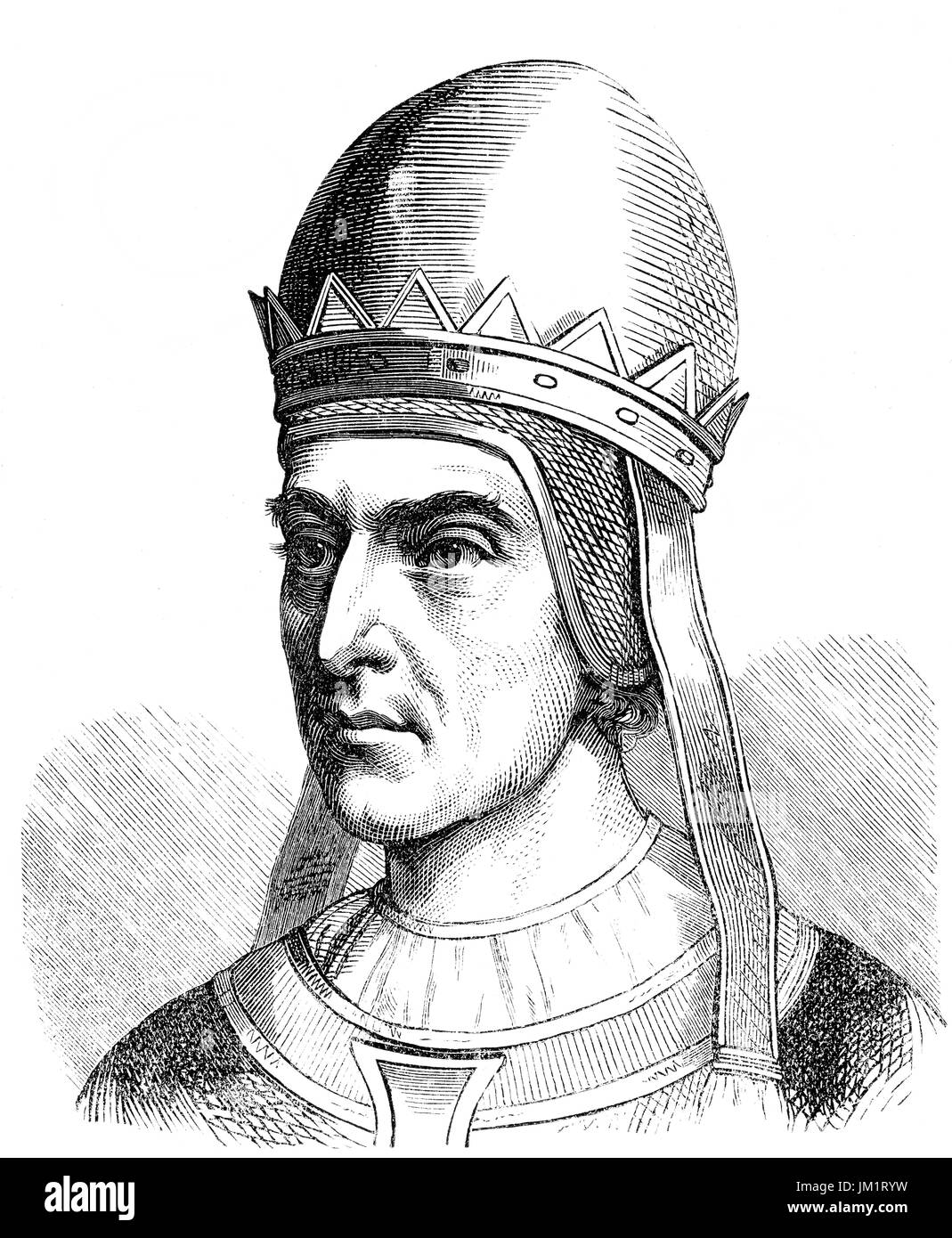 Gregory VII, c. 1015 – 1085, born Hildebrand of Sovana, was Pope from 22 April 1073 to his death in 1085 - Stock Image
