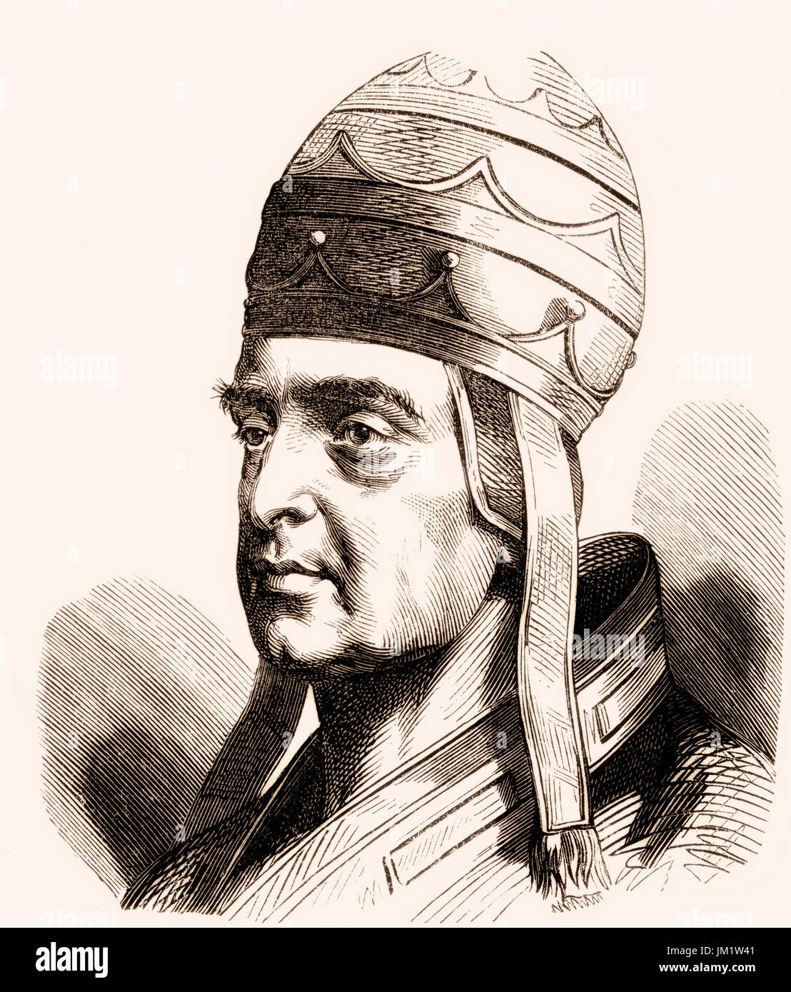 Boniface VIII, c. 1230 – 11 October 1303, born Benedetto Caetani, was Pope from 24 December 1294 to his death - Stock Image