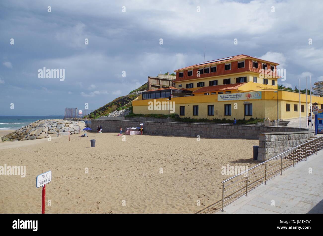 Santa Cruz Beach in Torres Vedras. Portugal - Stock Image