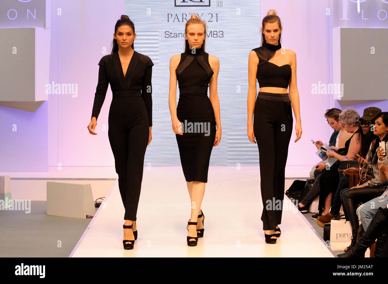 b79ad60d5 Fashion models wearing clothes by Party 21 on the Spirit Catwalk at Pure  London