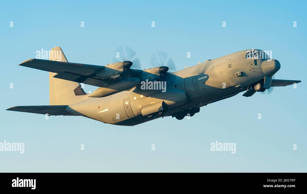 Lockheed Martin C-130 Hercules of Aeronautica Militare Italiana (Italian Air Force) of 46th Storm departed from Stock Photo