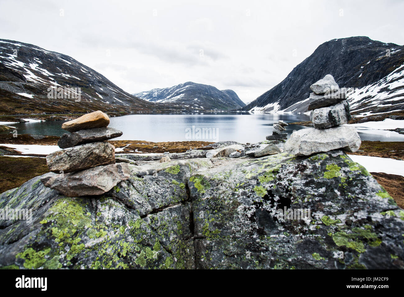 Norwegian mountainscape Stock Photo