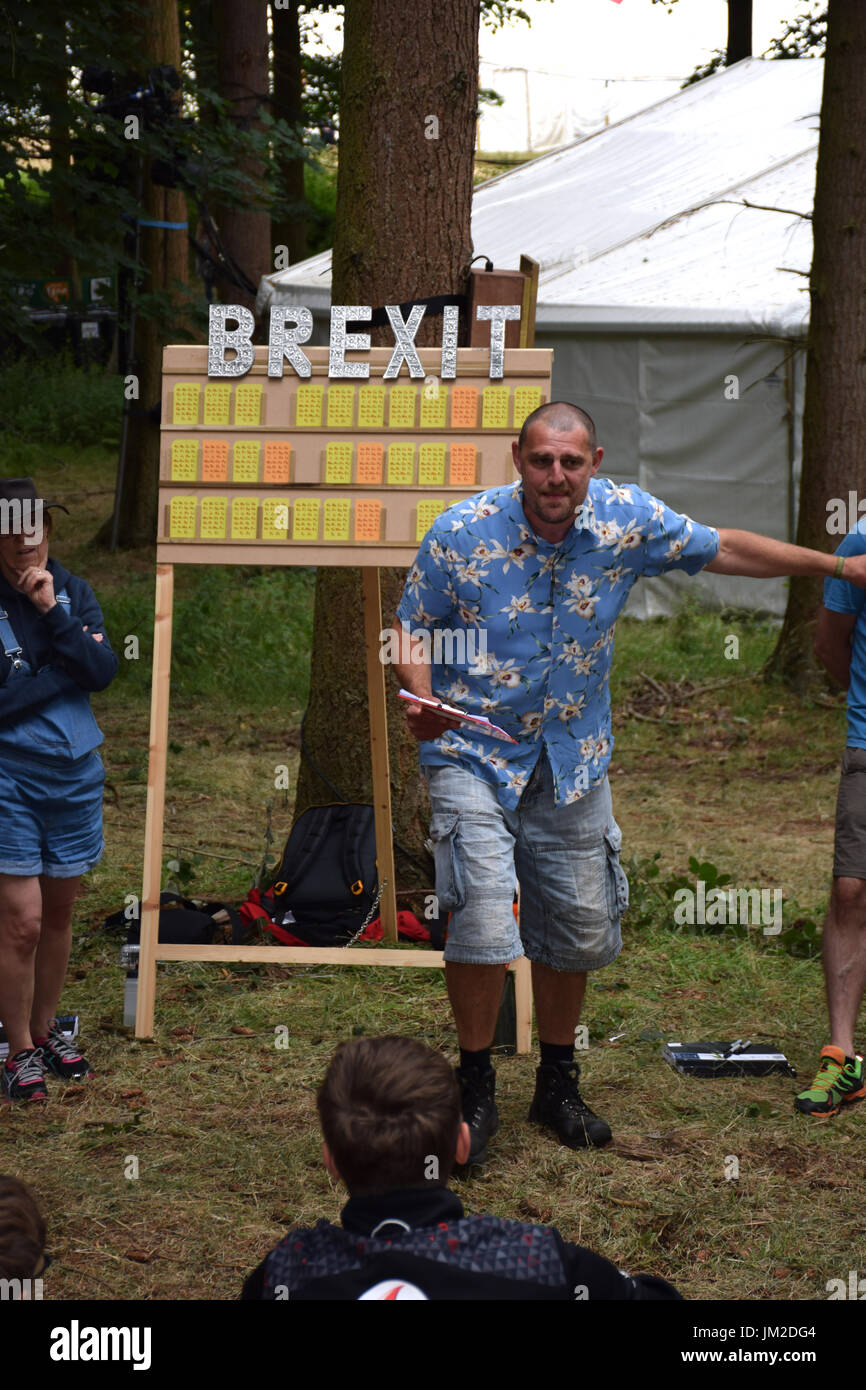 Latitude Festival 2017, Henham Park, Suffolk, UK. And Remember We Care Present Brexit The Gameshow, Faraway Forest - Stock Image