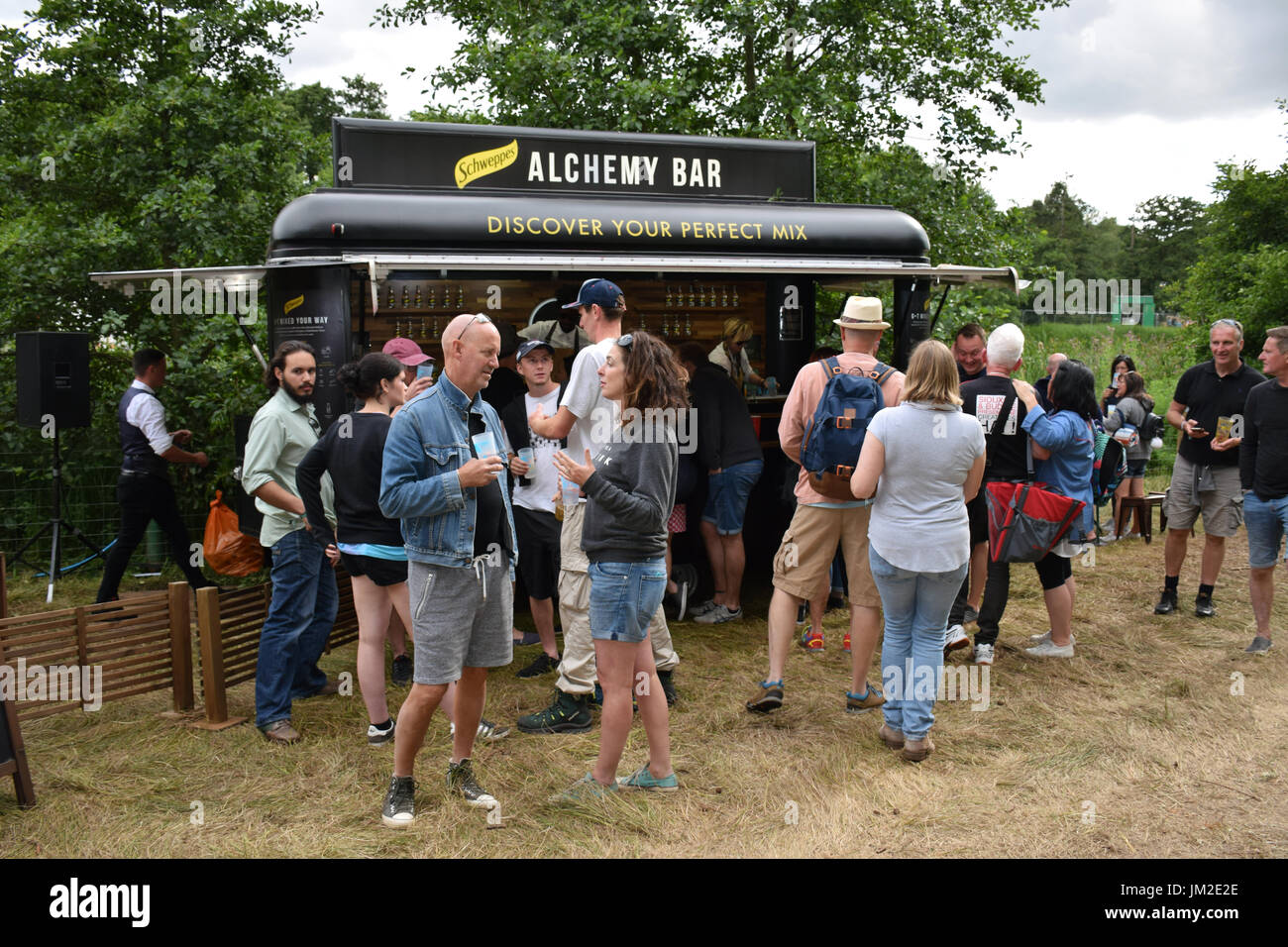 Latitude Festival 2017, Henham Park, Suffolk, UK. New for 2017, Alchemy gin & tonic bar sponsored by Schweppes. - Stock Image