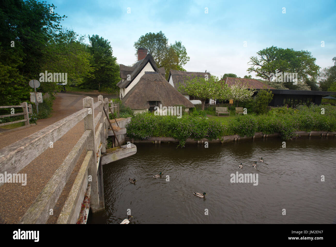 East Bergholt village, Suffolk, birthplace of painter John Constable, Babergh district, Stour Valley, Suffolk, England, Stock Photo