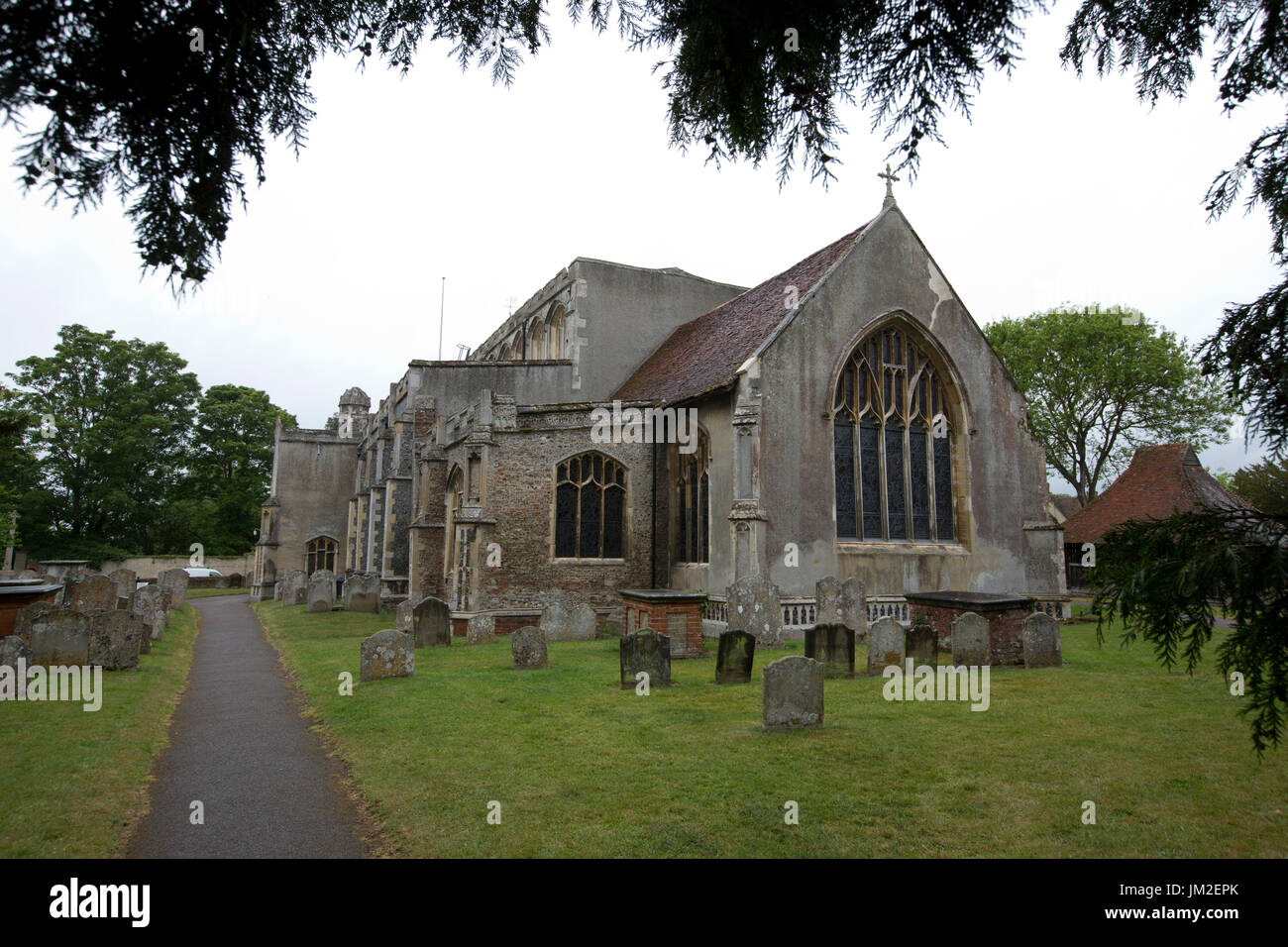 East Bergholt village, Suffolk, birthplace of painter John Constable, Babergh district, Stour Valley, Suffolk, England, United Kingdom - Stock Image