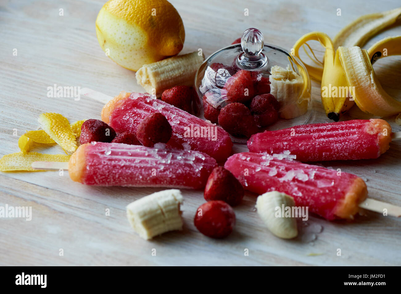 Youth ice pop from the freezer. with a touch of frost and ice. Refreshing in the heat . - Stock Image