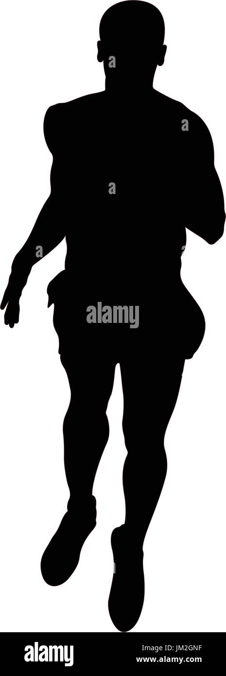 young athlete middle distance runner vector illustration - Stock Vector