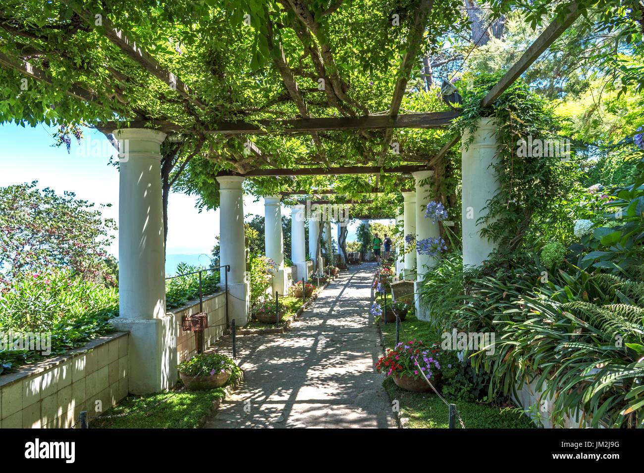 The Gardens Of Villa San Michele In Anacapri On The Island