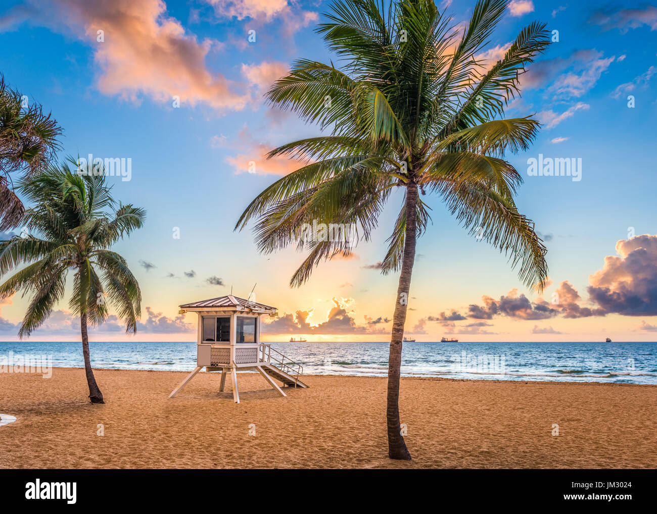 Fort Lauderdale, Florida, USA at the beach. Stock Photo