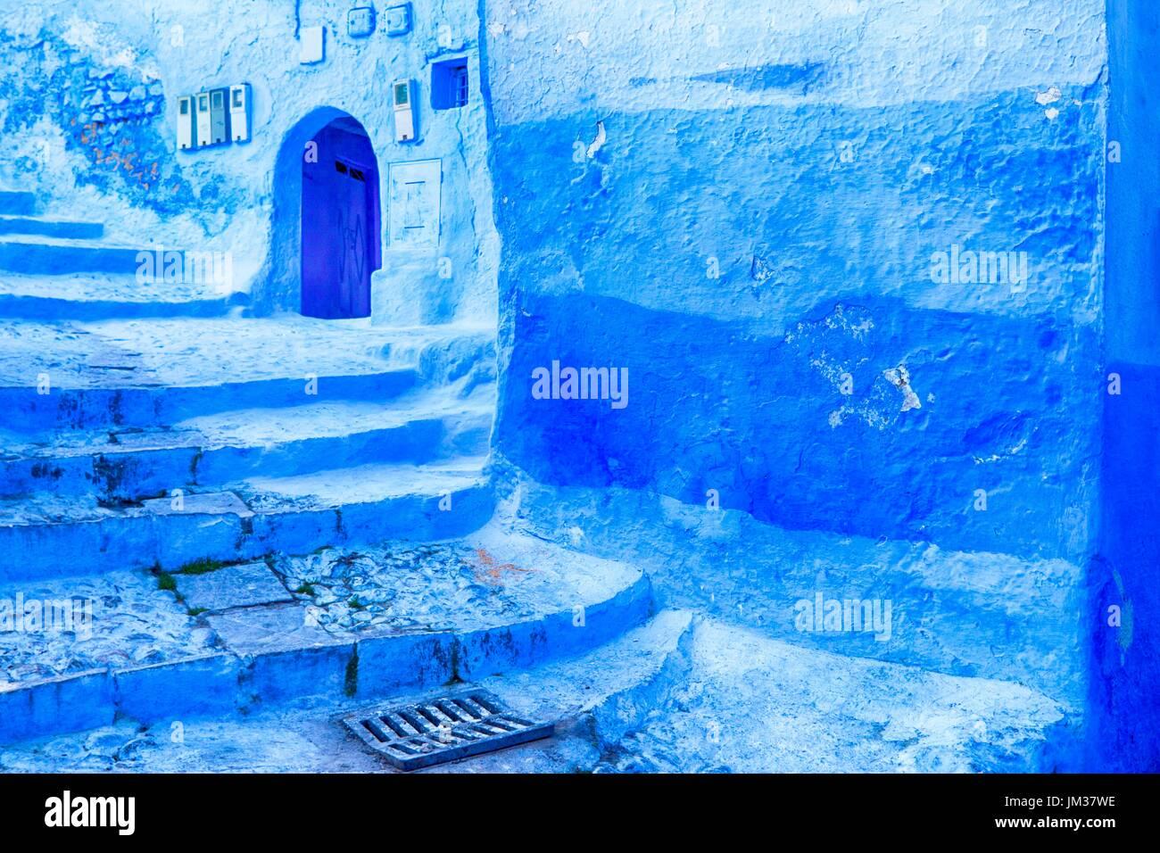 The Blue City, Morocco Stock Photo