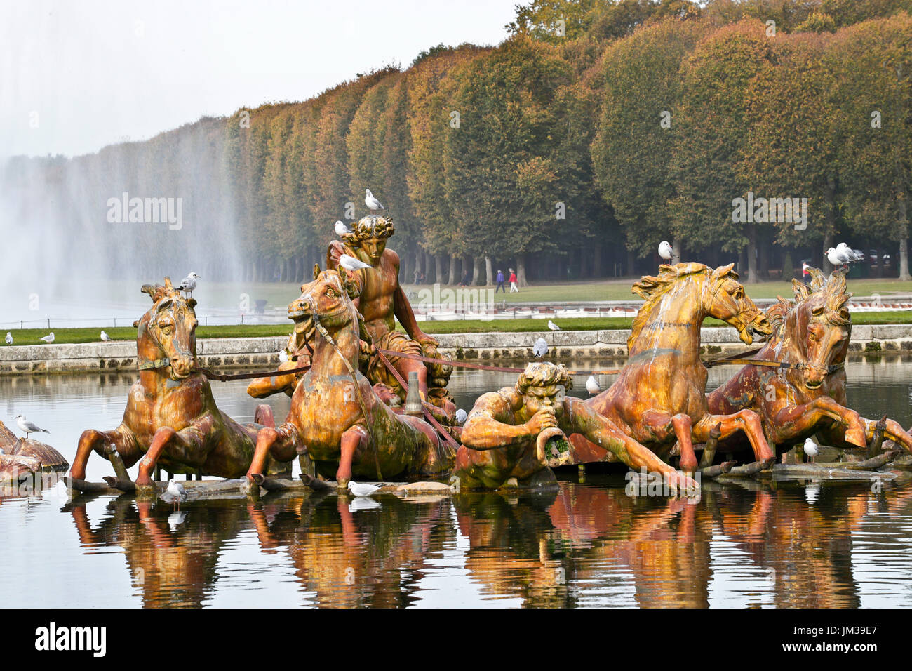 Gardens of Versailles, Palace of Versailles, UNESCO World Heritage Site, Yvelines, Region Ile-de-France, Versailles.France.Apollo fountain - Stock Image