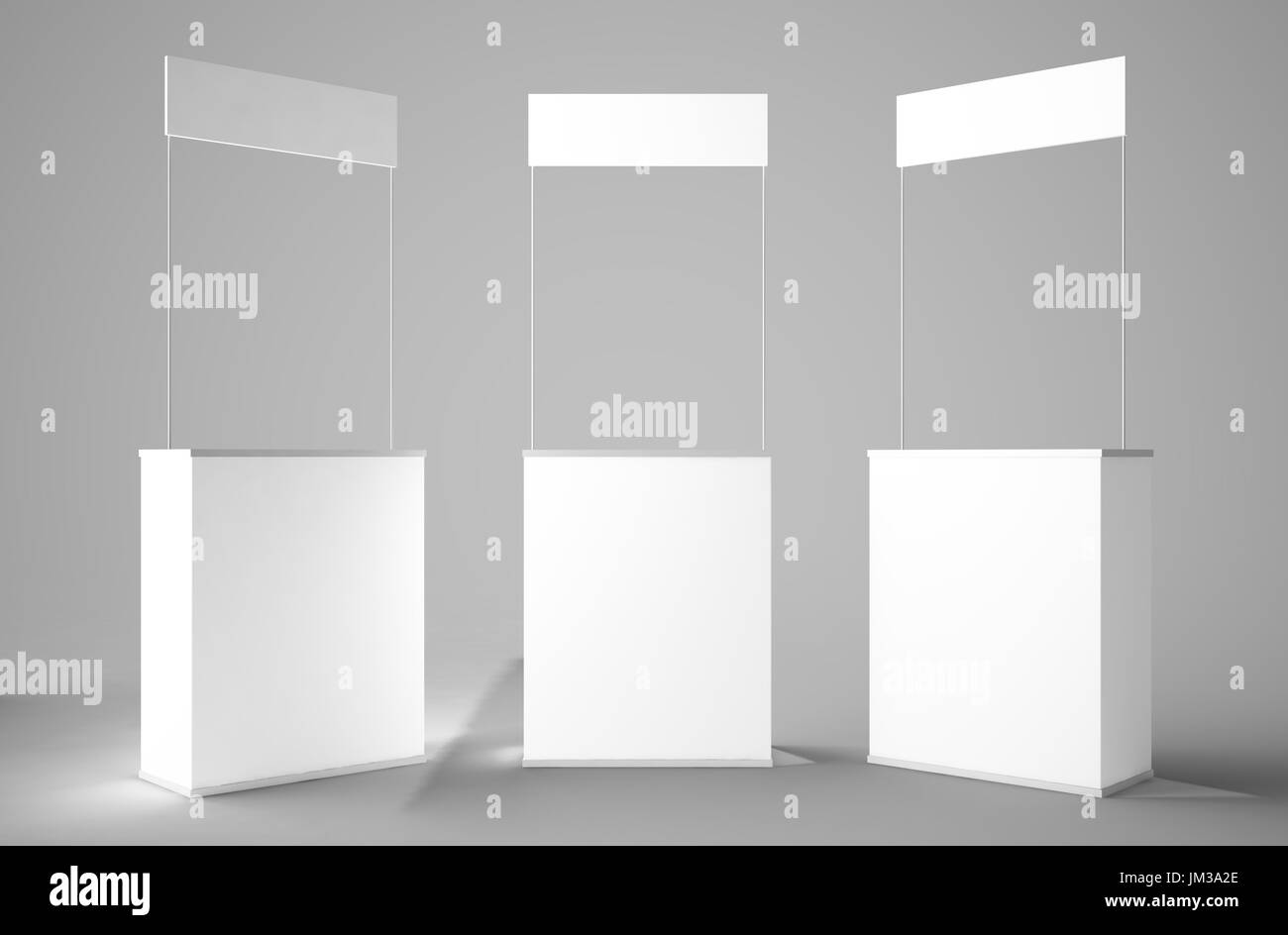 Exhibition Stall Mockup : 3d rendering of white stand stall bar mockup stock photo: 150049830