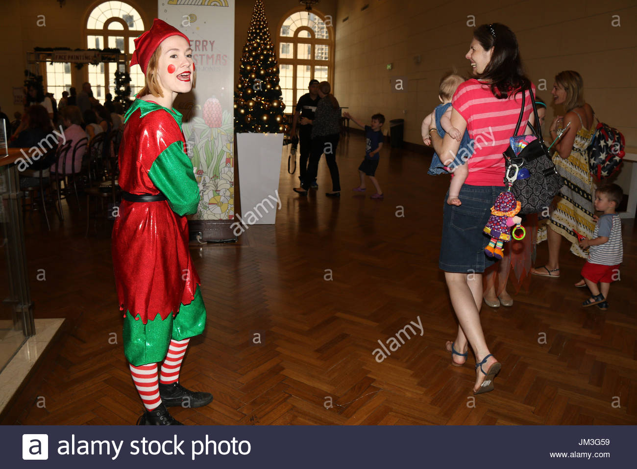0f0665791 children arrive for the David Jones Christmas pantomime. David Jones  brought the magic of Christmas to children with their pantomime on level 7  at the ...