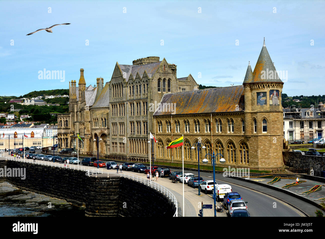 Aberystwyth Old College, West Wales. Stock Photo