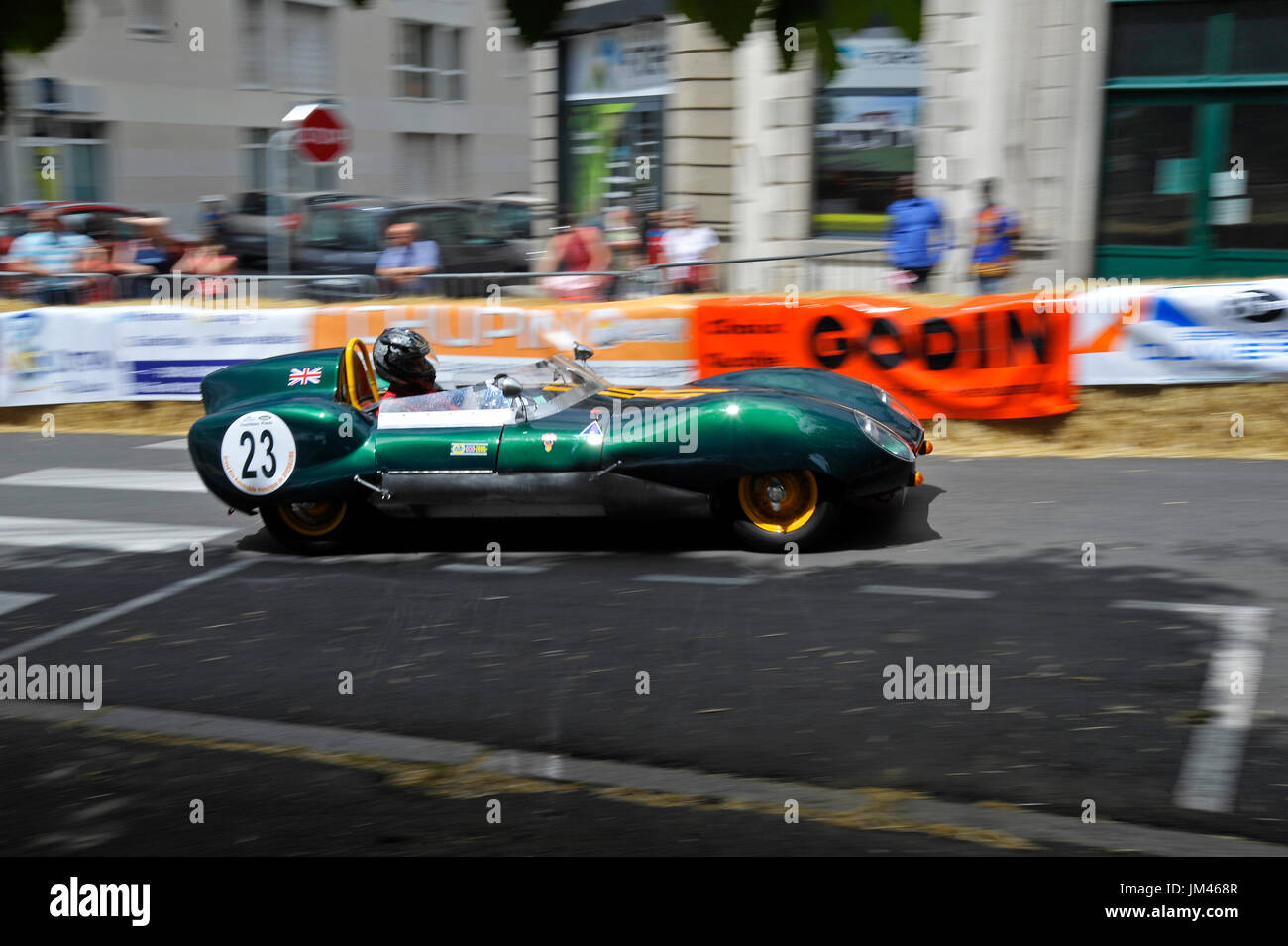 Lotus Westfield Eleven at the historic grand prix Bressuire France - Stock Image