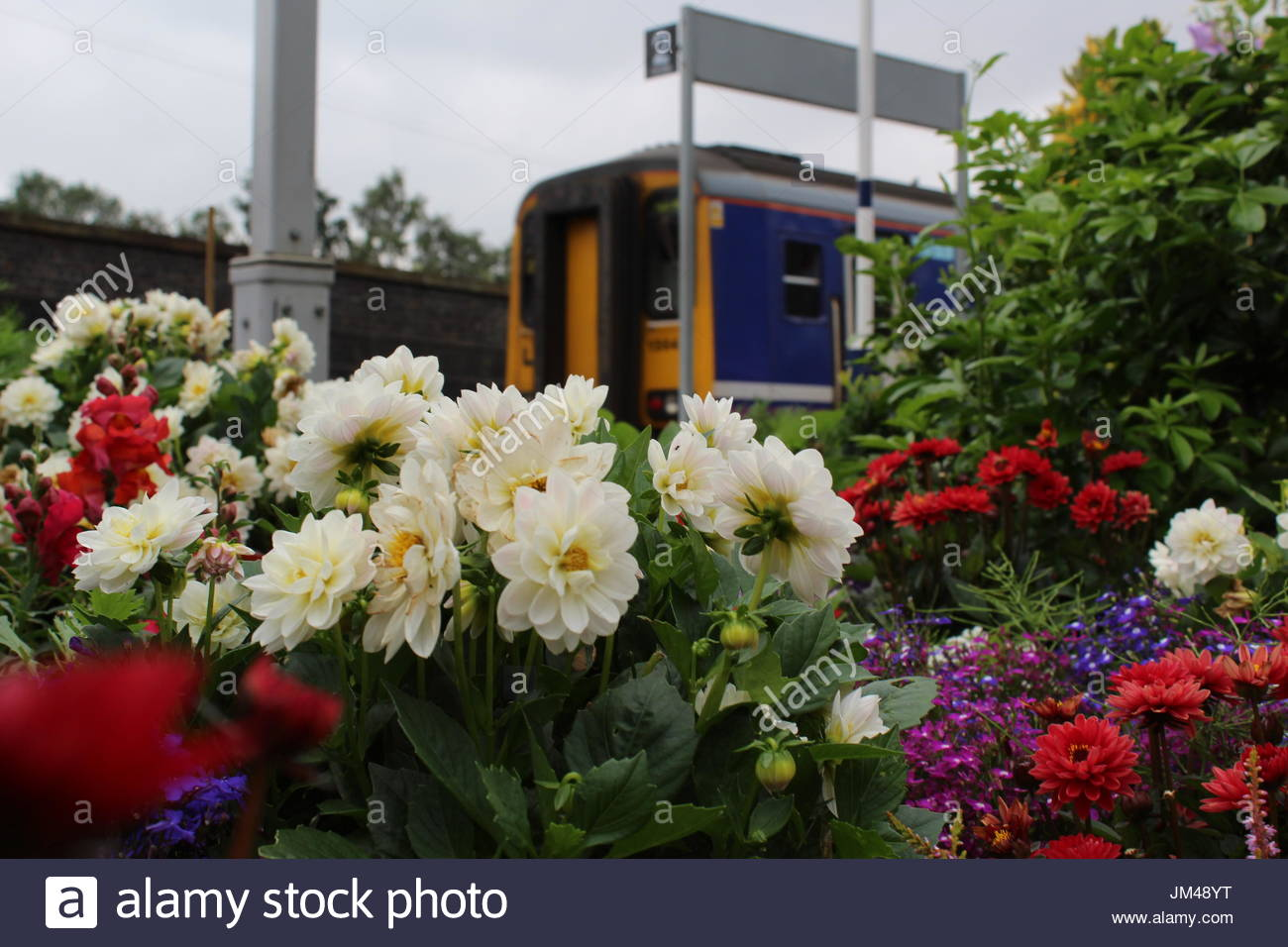 A community group has taken over Wigan Wallgate railway station in Wigan, Lancashire, and started improving the look and appearance of the site - Stock Image
