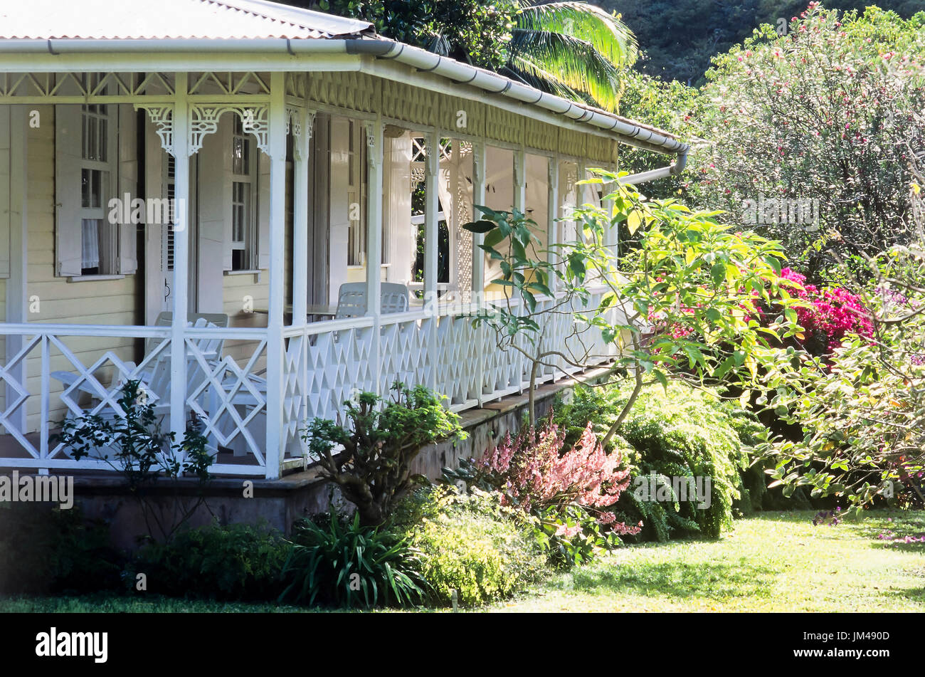 House with veranda - Stock Image