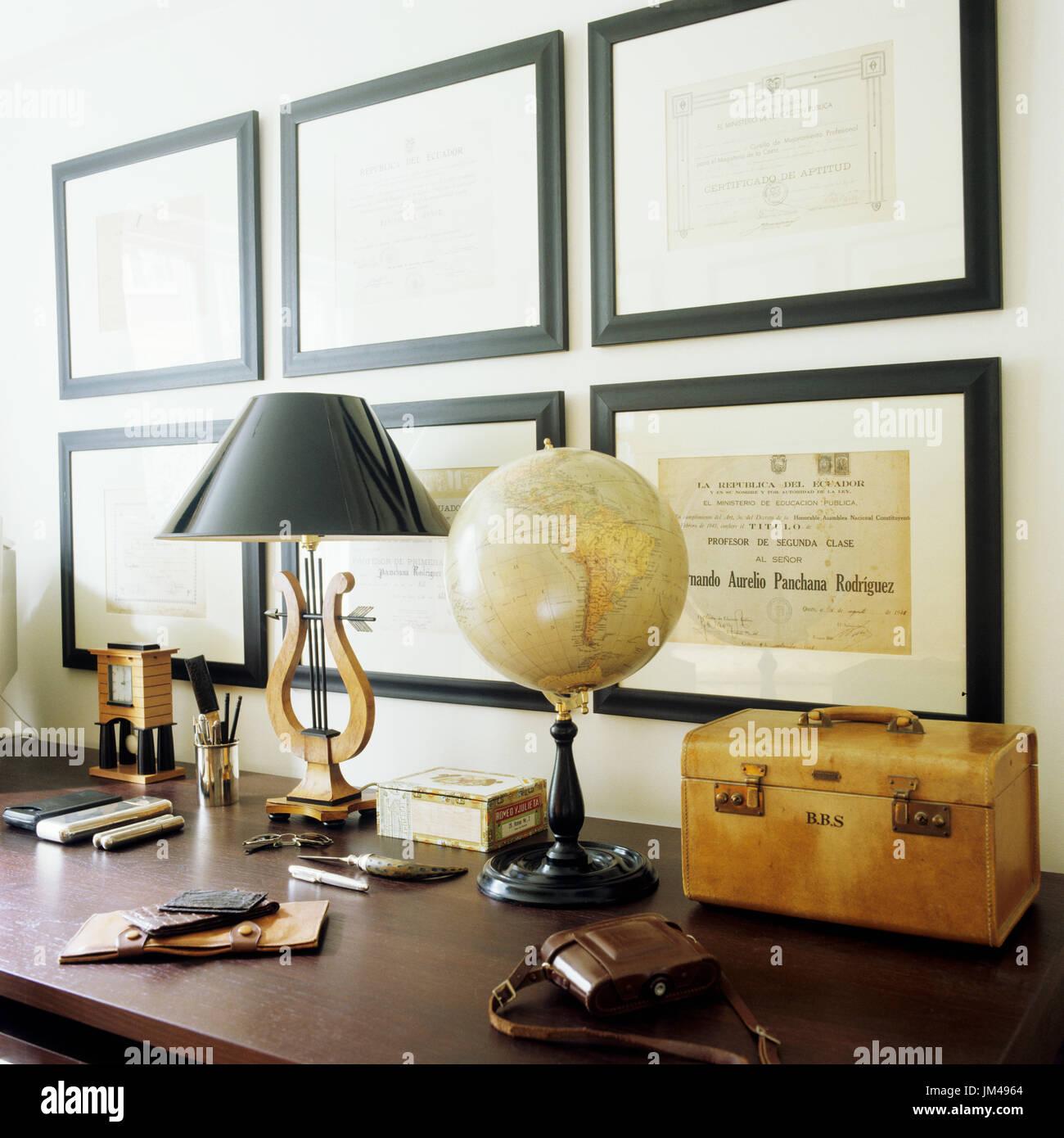 Masculine desk - Stock Image