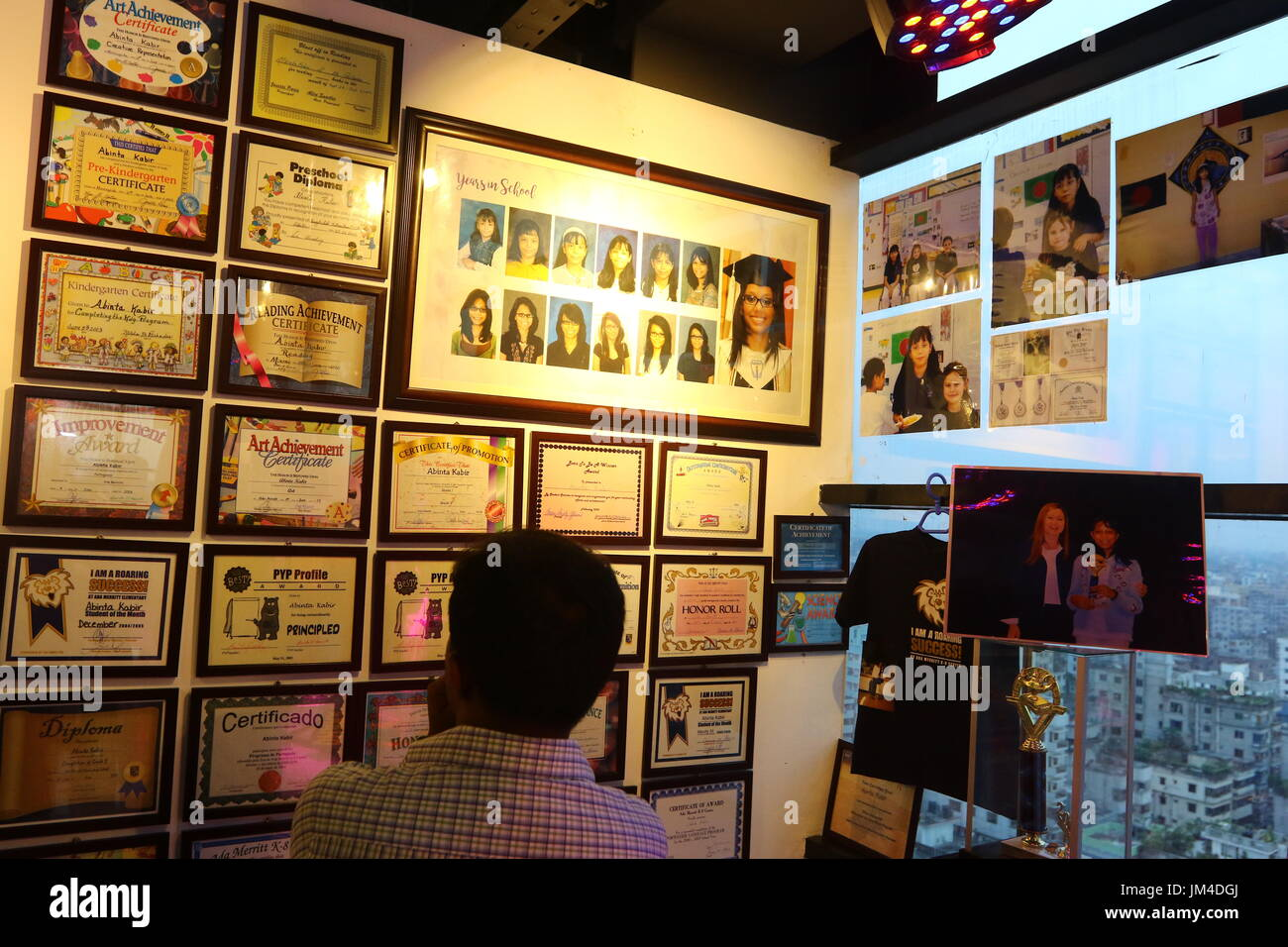 office space memorabilia. Visitors Look At The Memorabilia Of Abinta Kabir On Display In A Corner Office Space Foundation. Was Killed During Terro