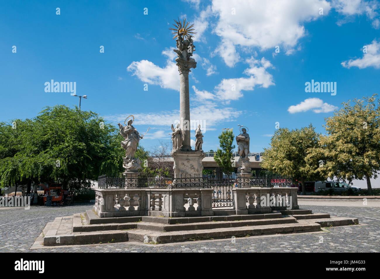 Holy Trinity Column, Bratislava, Slovakia - Stock Image