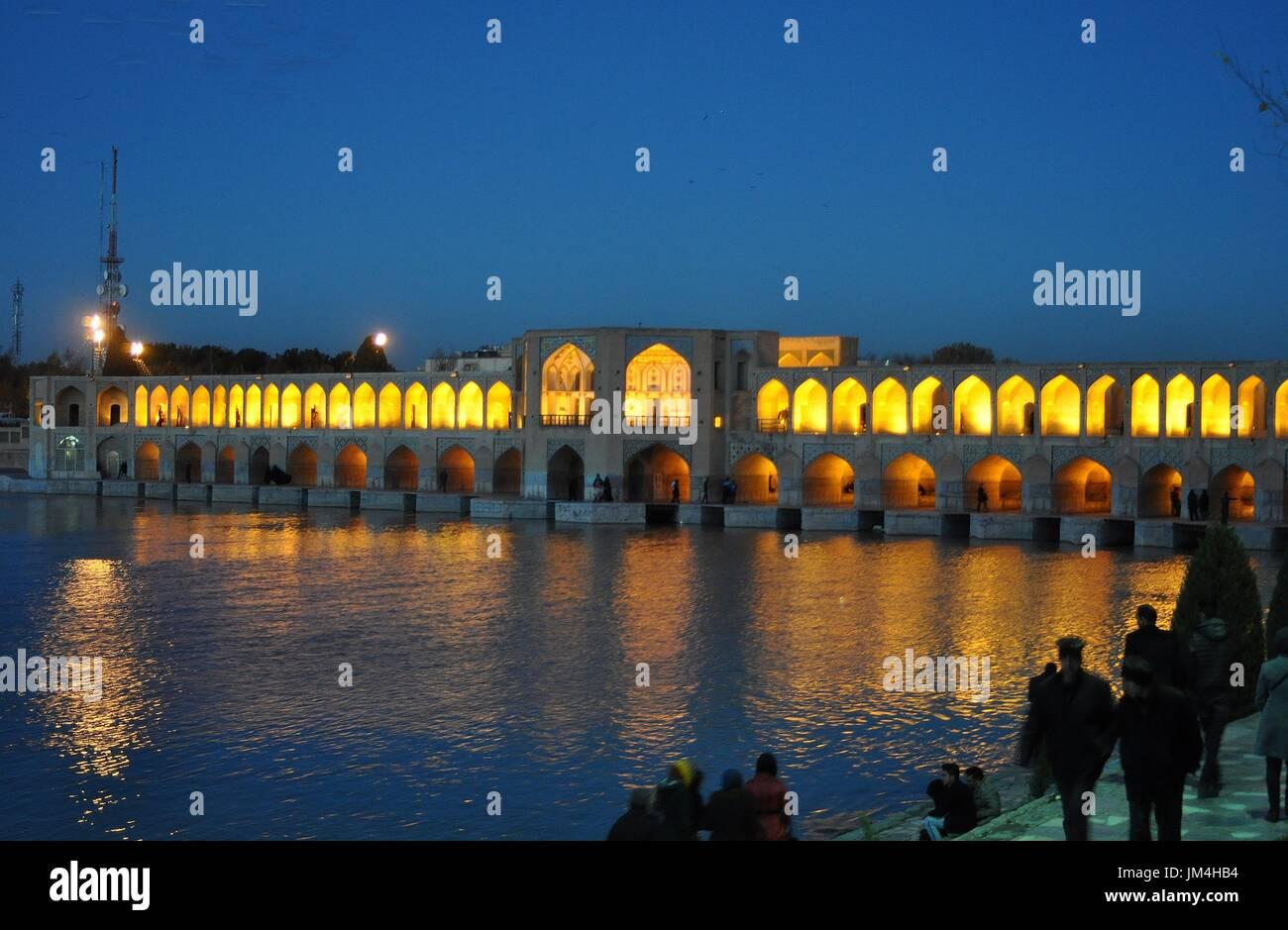 KHAJU BRIDGE, ISFAHAN, IRAN Stock Photo