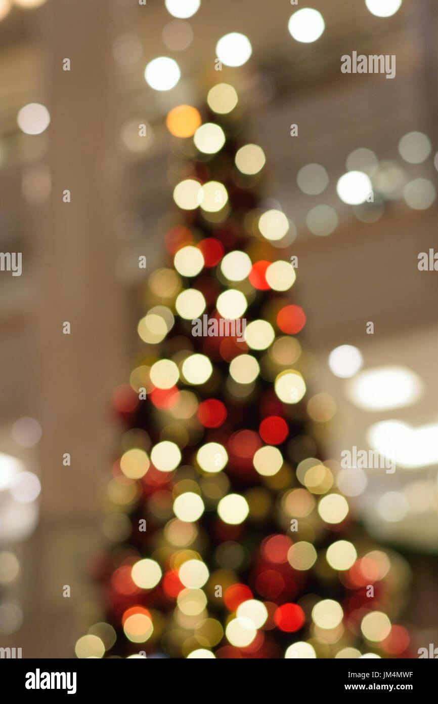 Abstract Texture Of Colorful Christmas Lights Background Blurs In Vertical Frame