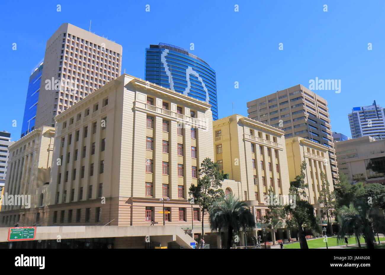 Historical architecture at Post Office Square in Brisbane Australia - Stock Image