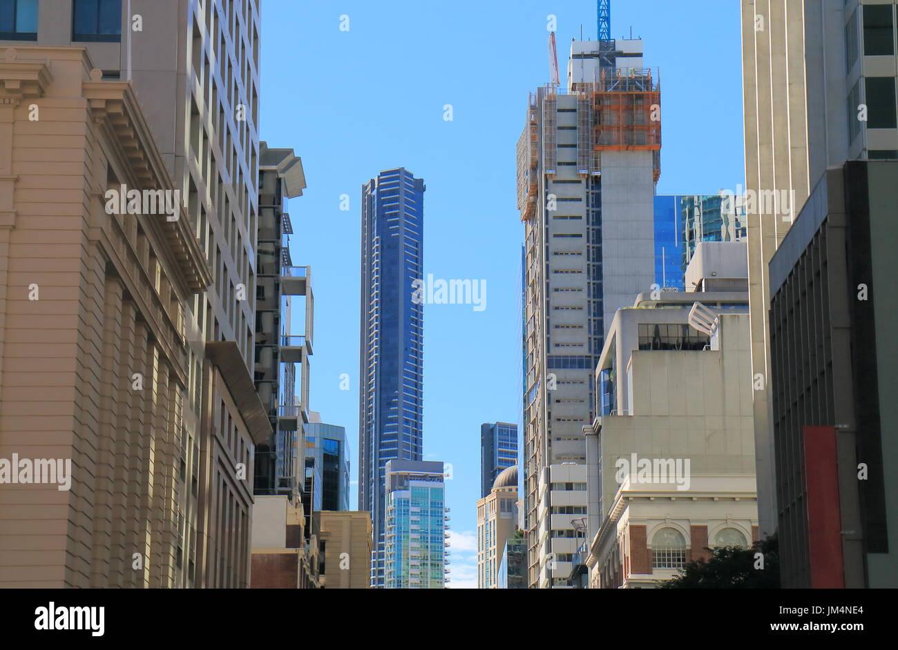 Downtown cityscape Brisbane Australia - Stock Image