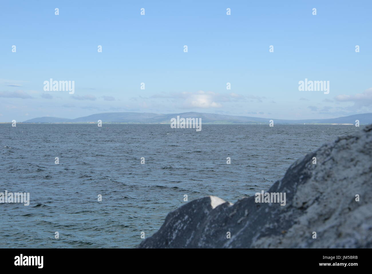 View of the Galway Bay from Seapoint Promenade in the Galway City - Stock Image