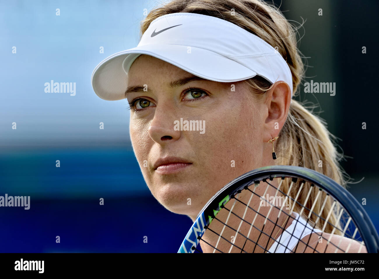 Maria Sharapova, tennis star preps for her 2017 WTT match in Newport Beach, CA plotting her comeback after a 15-month suspension for meldonium use. - Stock Image