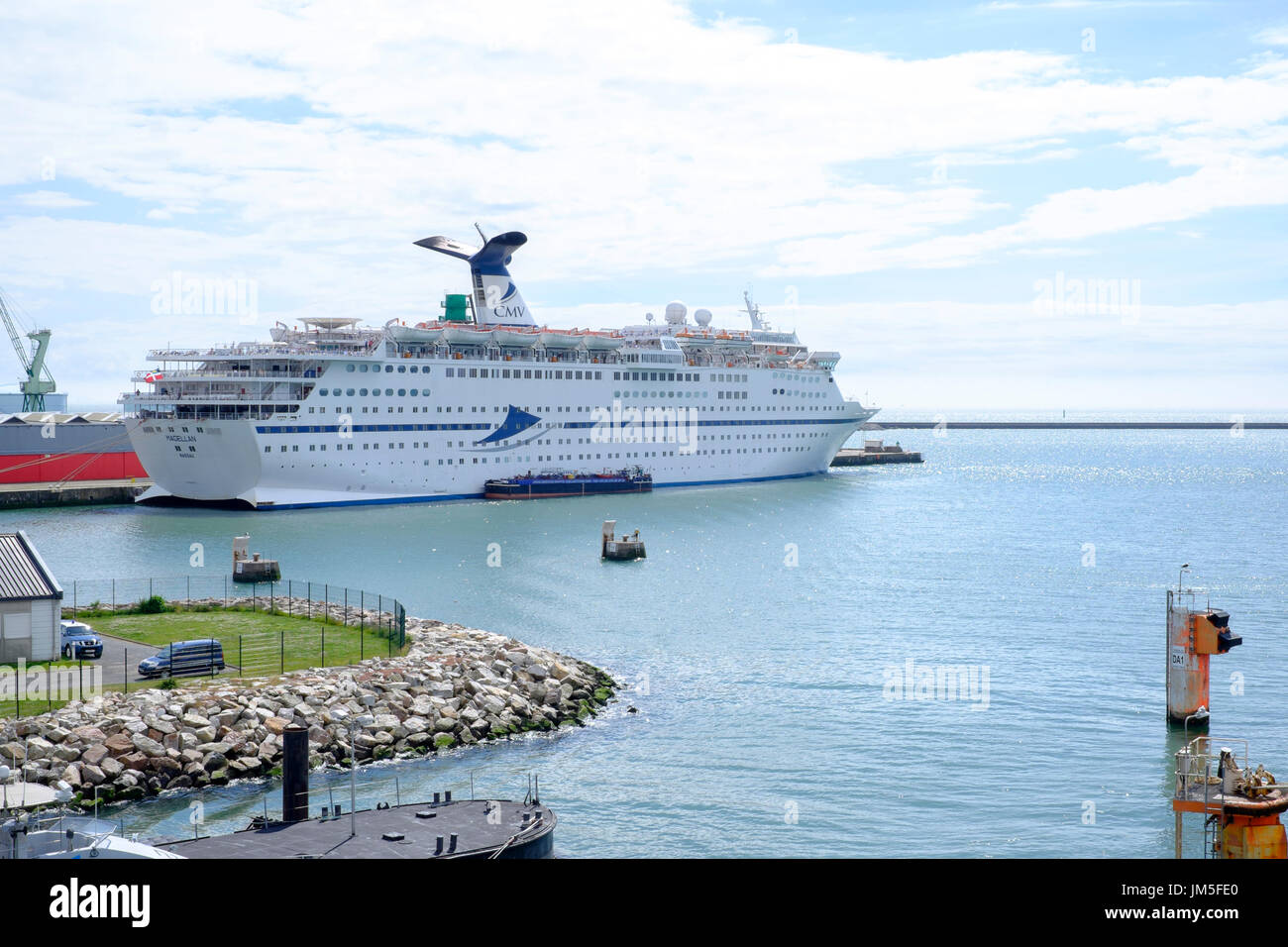 cruise ship cmv magellan docked at le havre france Stock Photo