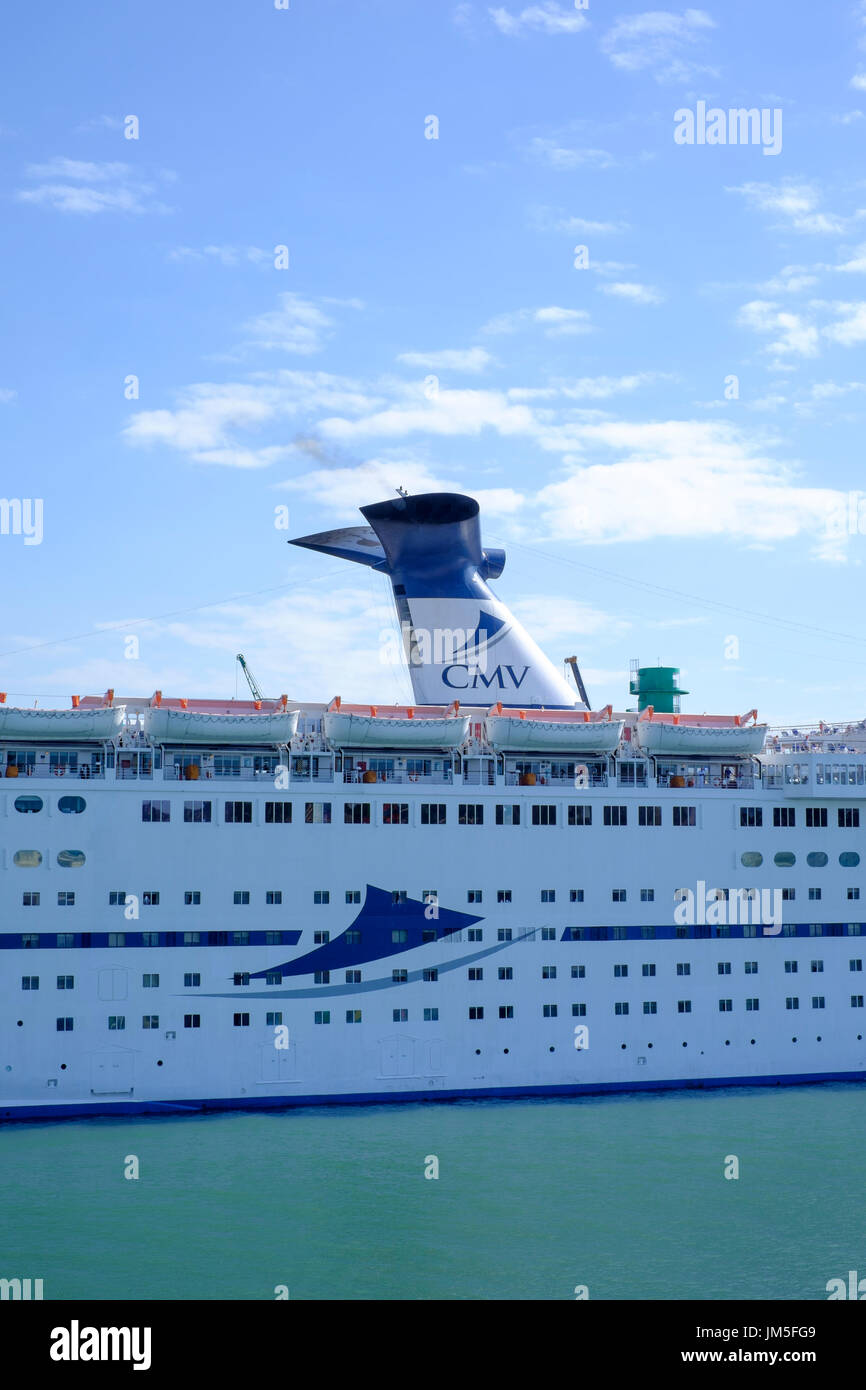 cruise ship cmv magellan docked at le havre france - Stock Image