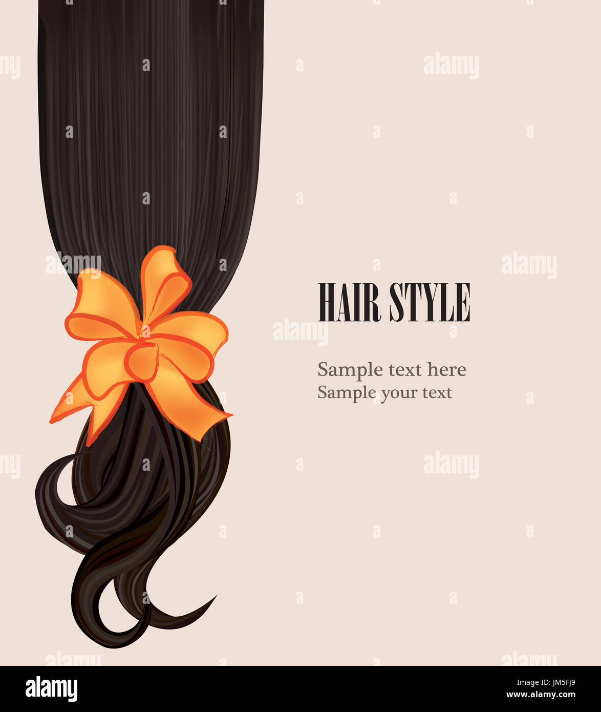 Hair Style Beauty Salon Poster With Curly Black Hairstyle