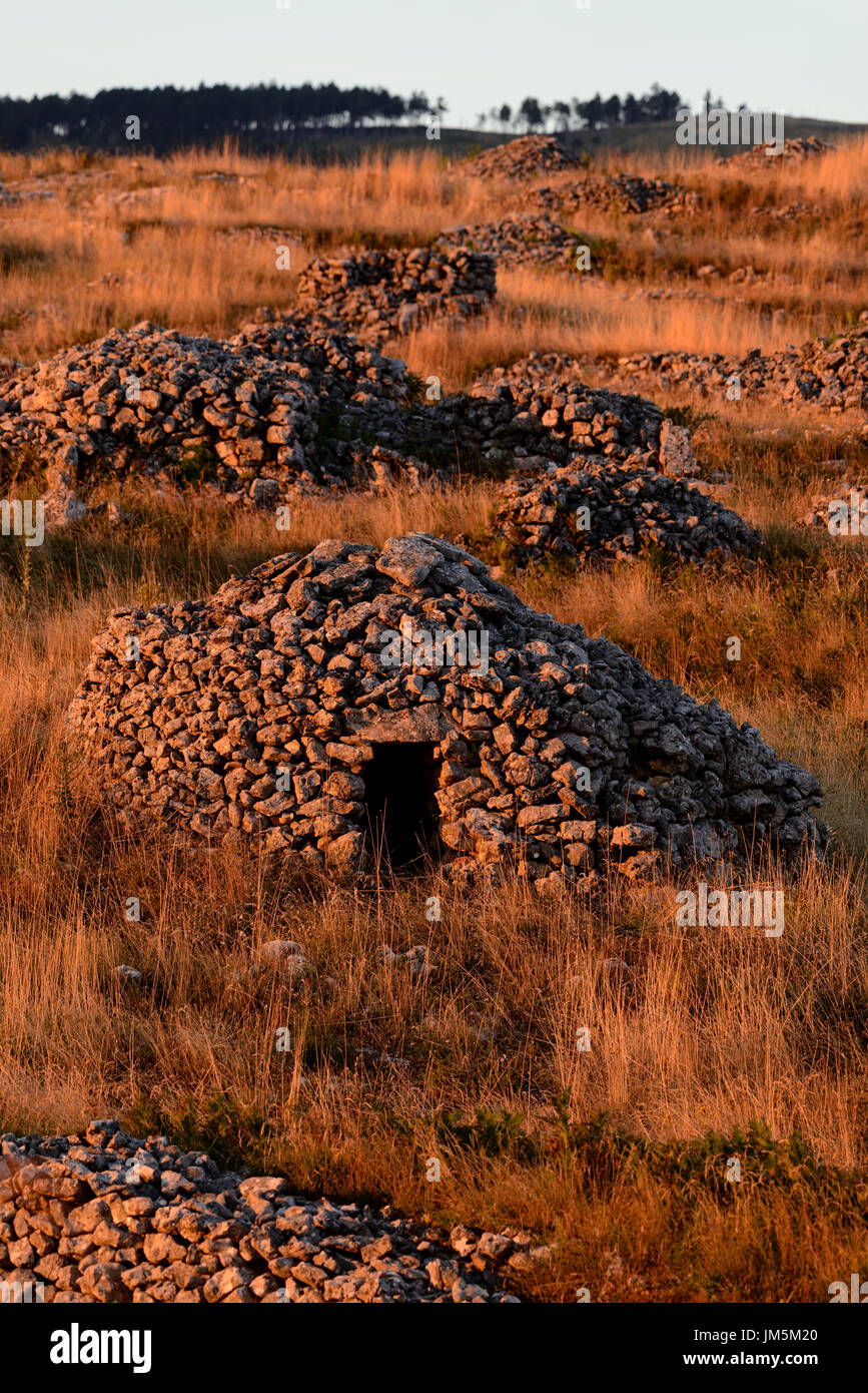 Stone hut - Stock Image