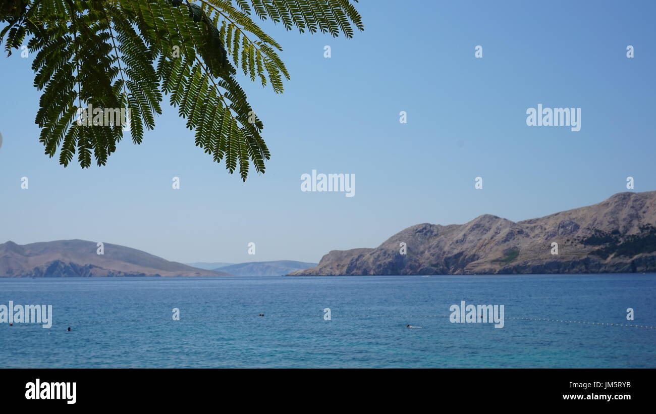 view from Baska - Stock Image