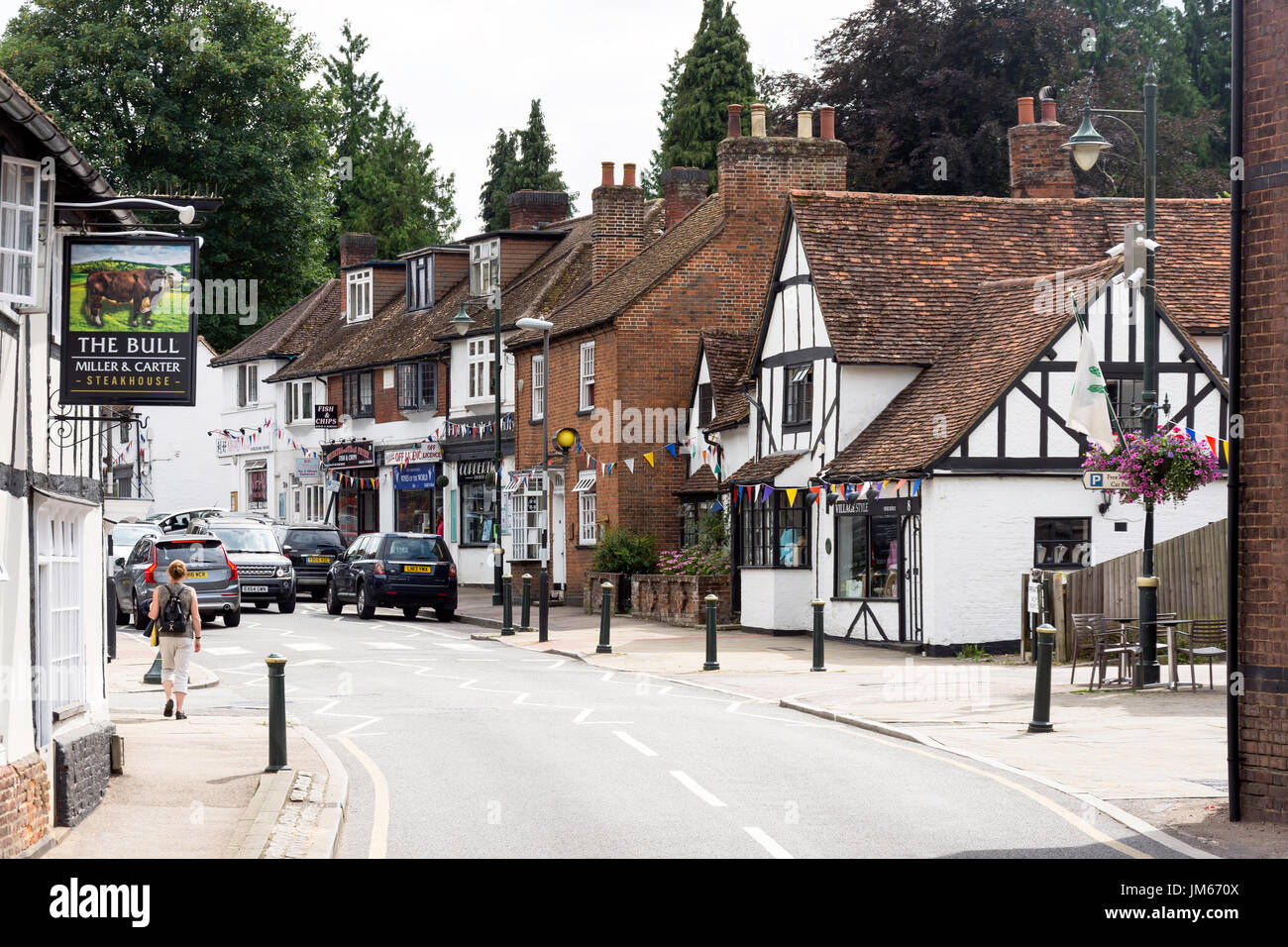 High Street, Wheathampstead, Hertfordshire, England, United Kingdom - Stock Image