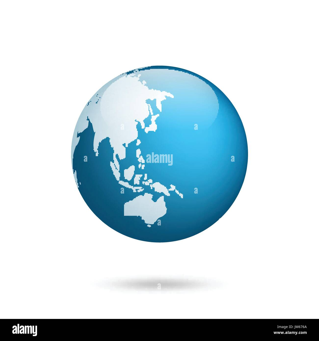 Earth Globe World Map Set Planet With Continents Africa Asia Stock