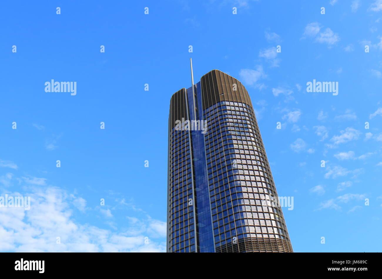 1 William Skyscraper office building Brisbane Australia. 1 William is the tallest building in Brisbane. - Stock Image