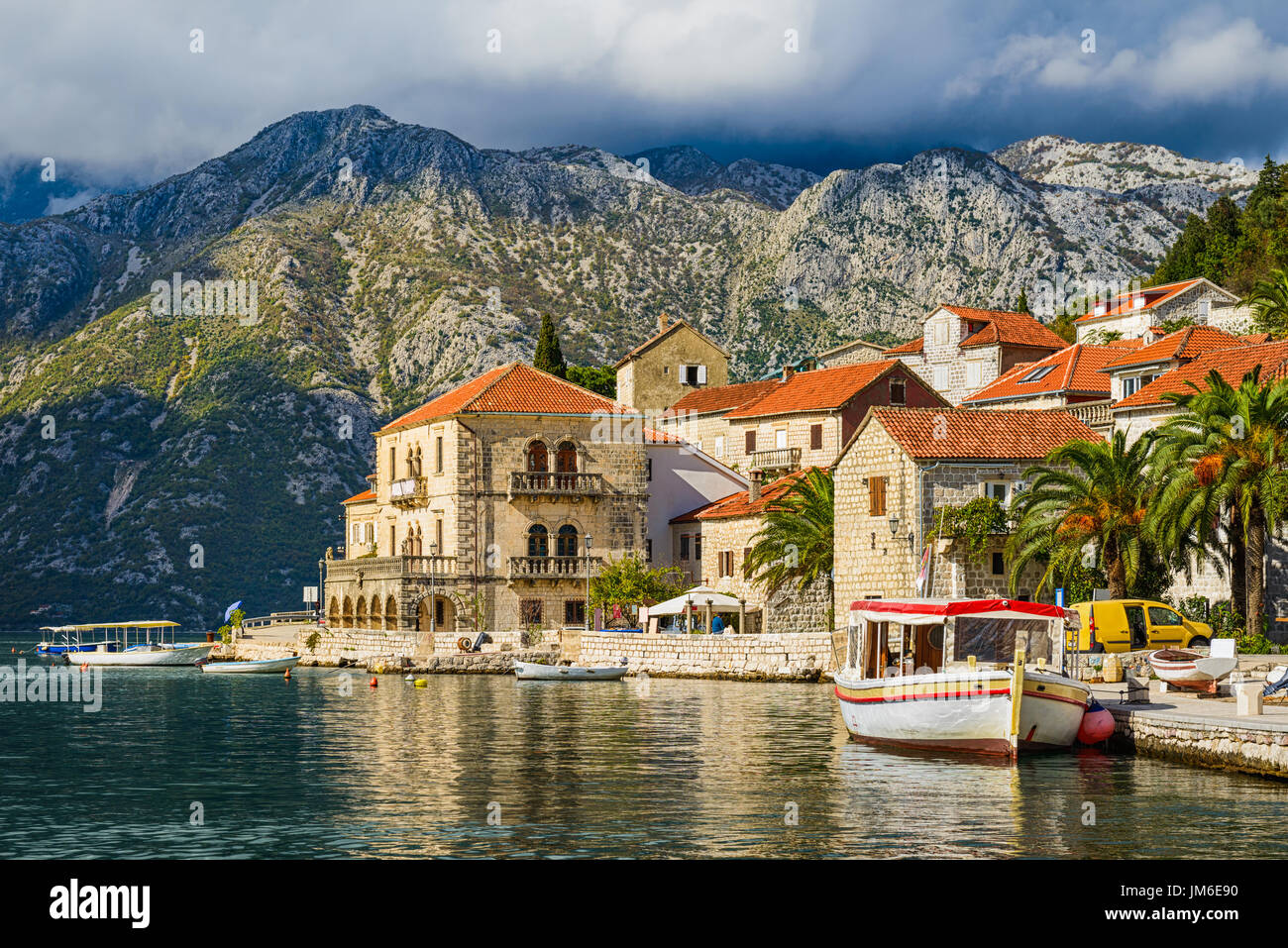 Perast town in the Bay of Kotor, Montenegro - Stock Image