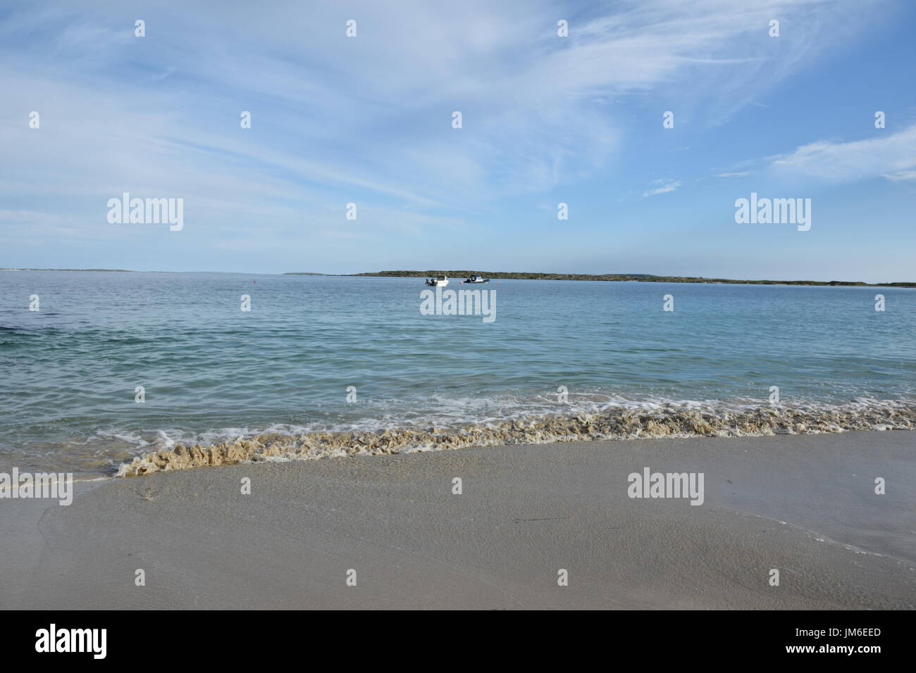 Sandy beach next to Wild Atlantic Way in the County Galway, Ireland Stock Photo