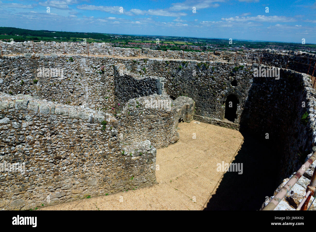 LAST POINT OF DEFENCE, SHELL KEEP, CARISBROOKE CASTLE - Stock Image