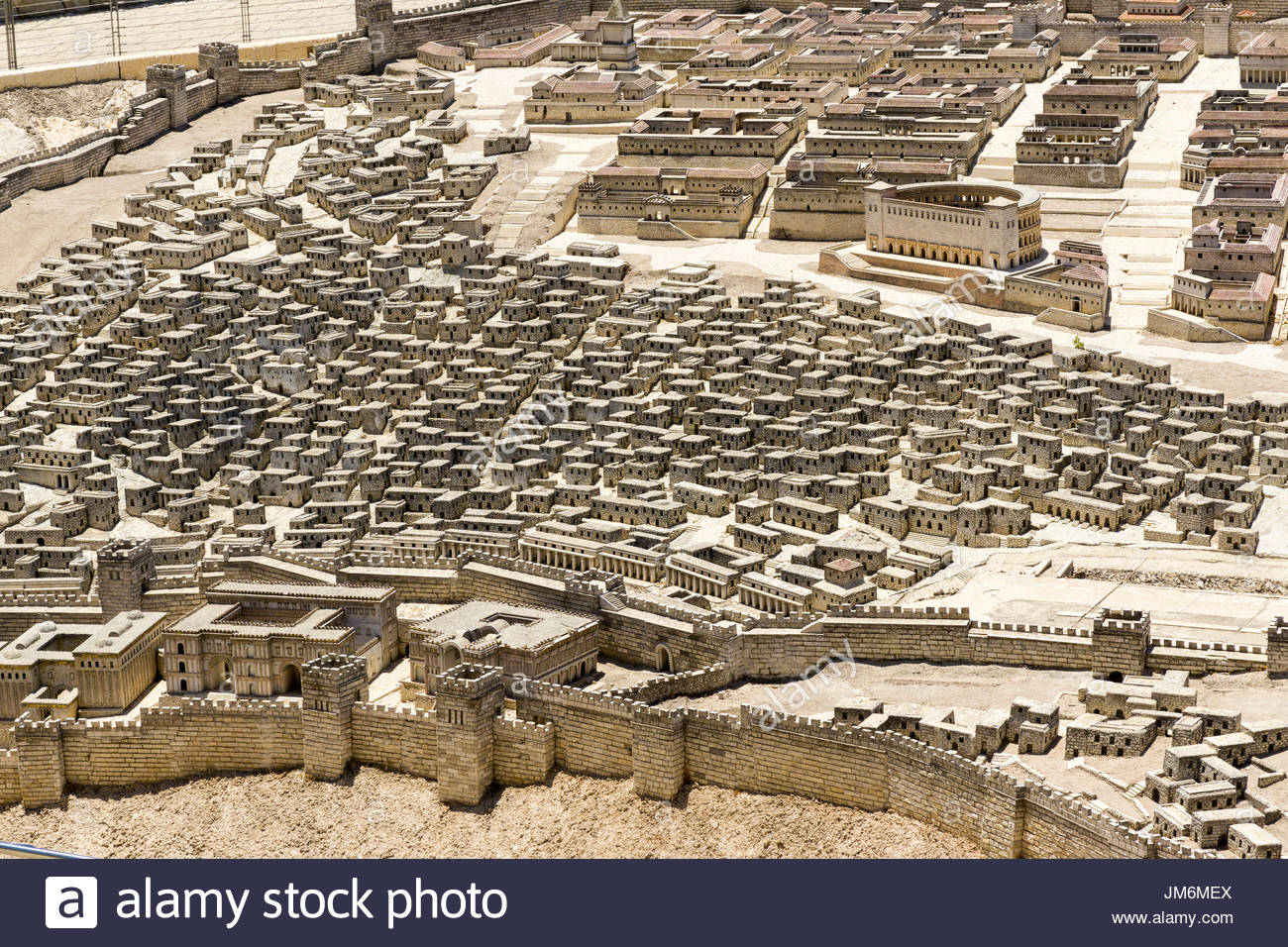 Part of the Second Temple Model at the Israel Museum in Jerusalem. Stock Photo